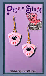 SMALL PIG FACE EARRINGS