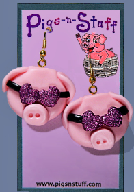 PIGS WITH SUNGLASSES EARRINGS