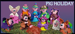 pig holiday scene