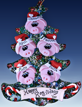 personalized pig family tree