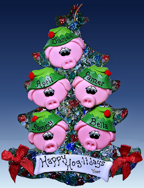 personalized pig elf family tree